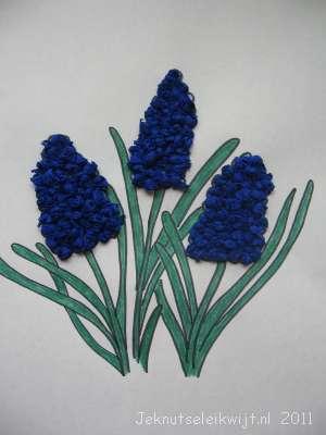 Voorjaarsknutsel Blauwe Druifjes