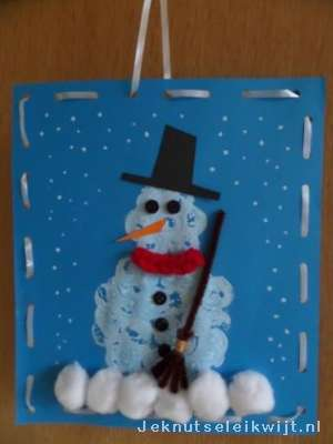 Sneeuwpop Stempelen