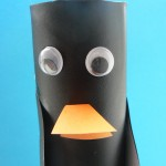 Pinguïn knutselen van keukenrol
