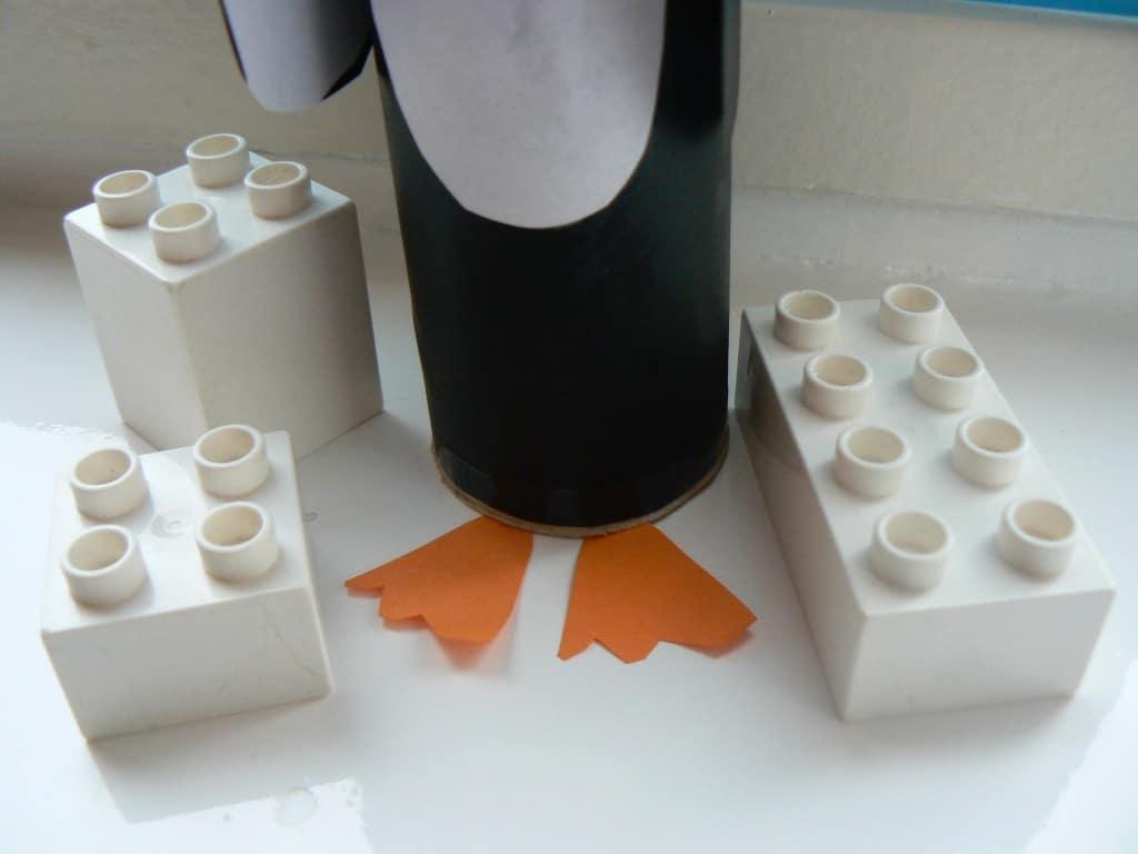 Pinguin knutselen van een keuken of wc rol - Decoratie van wc ...