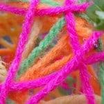 Paasei knutselen van wol