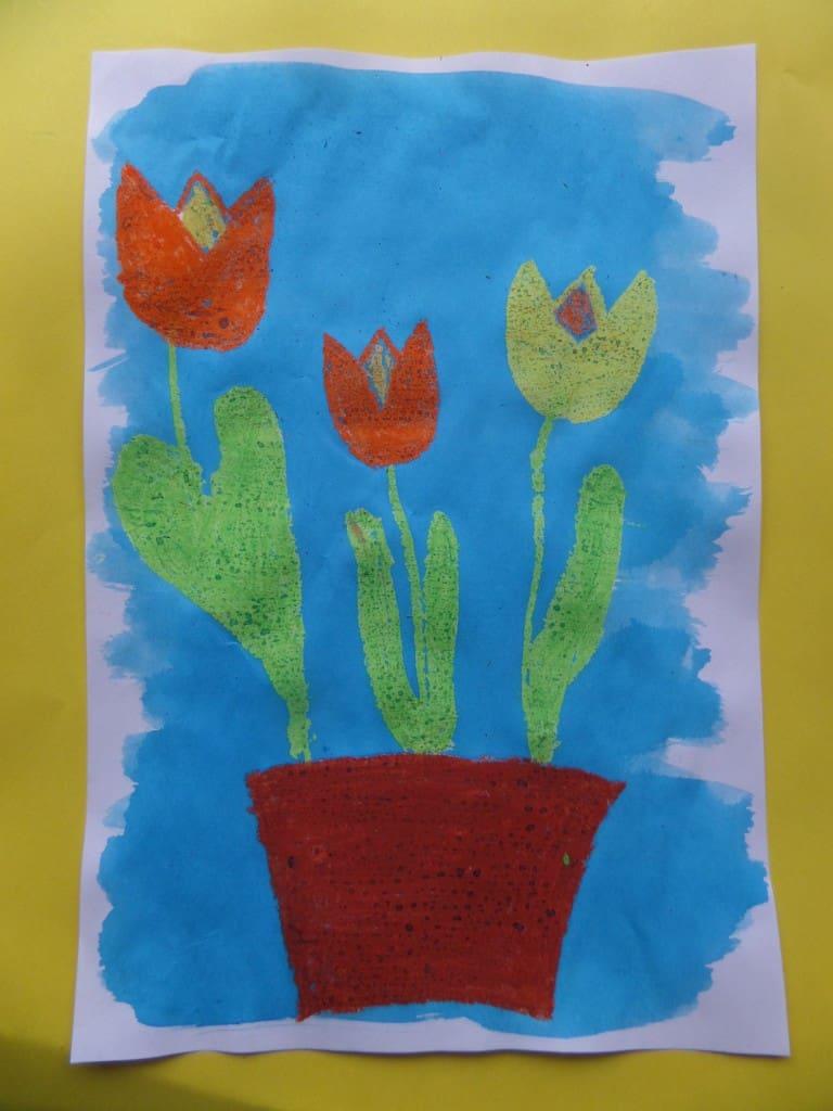 voorjaar met tulpen