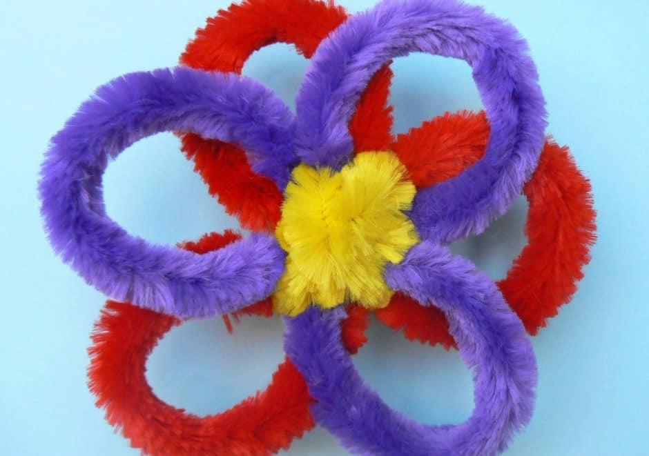 bloem maken van chenilledraad