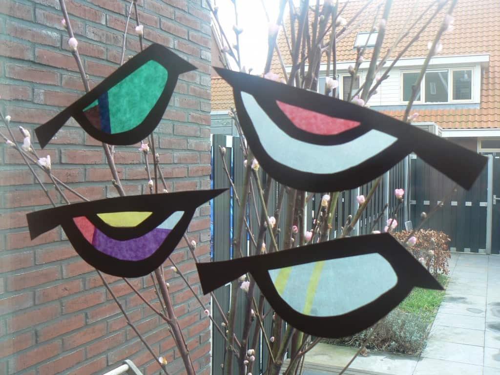 spring birds craft work