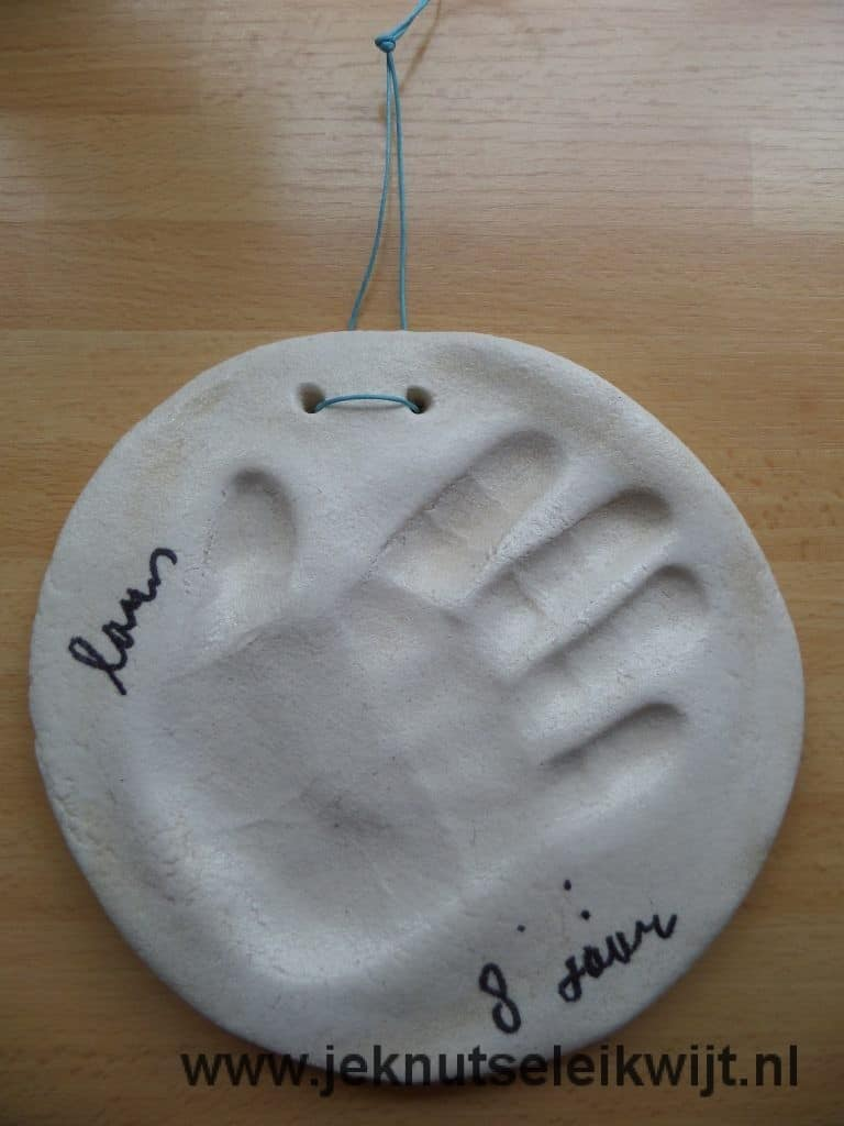 bread dough handprint