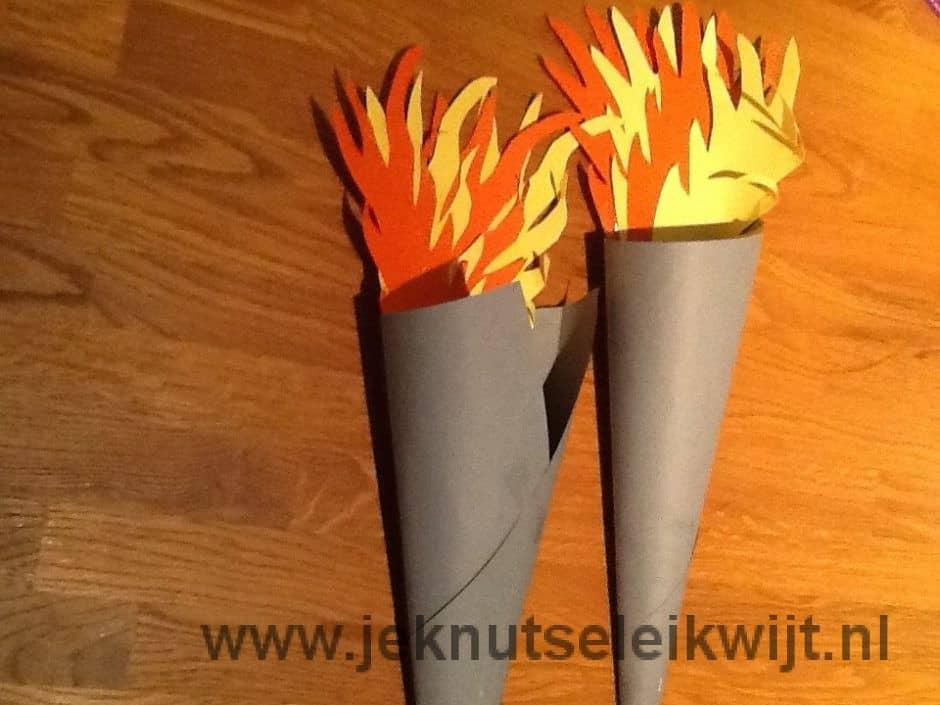 olympische vlam knutselen
