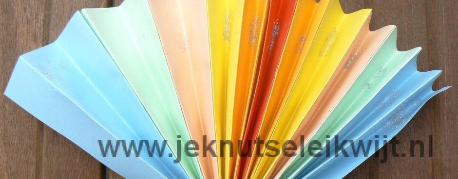 regenboog waaier knutselen