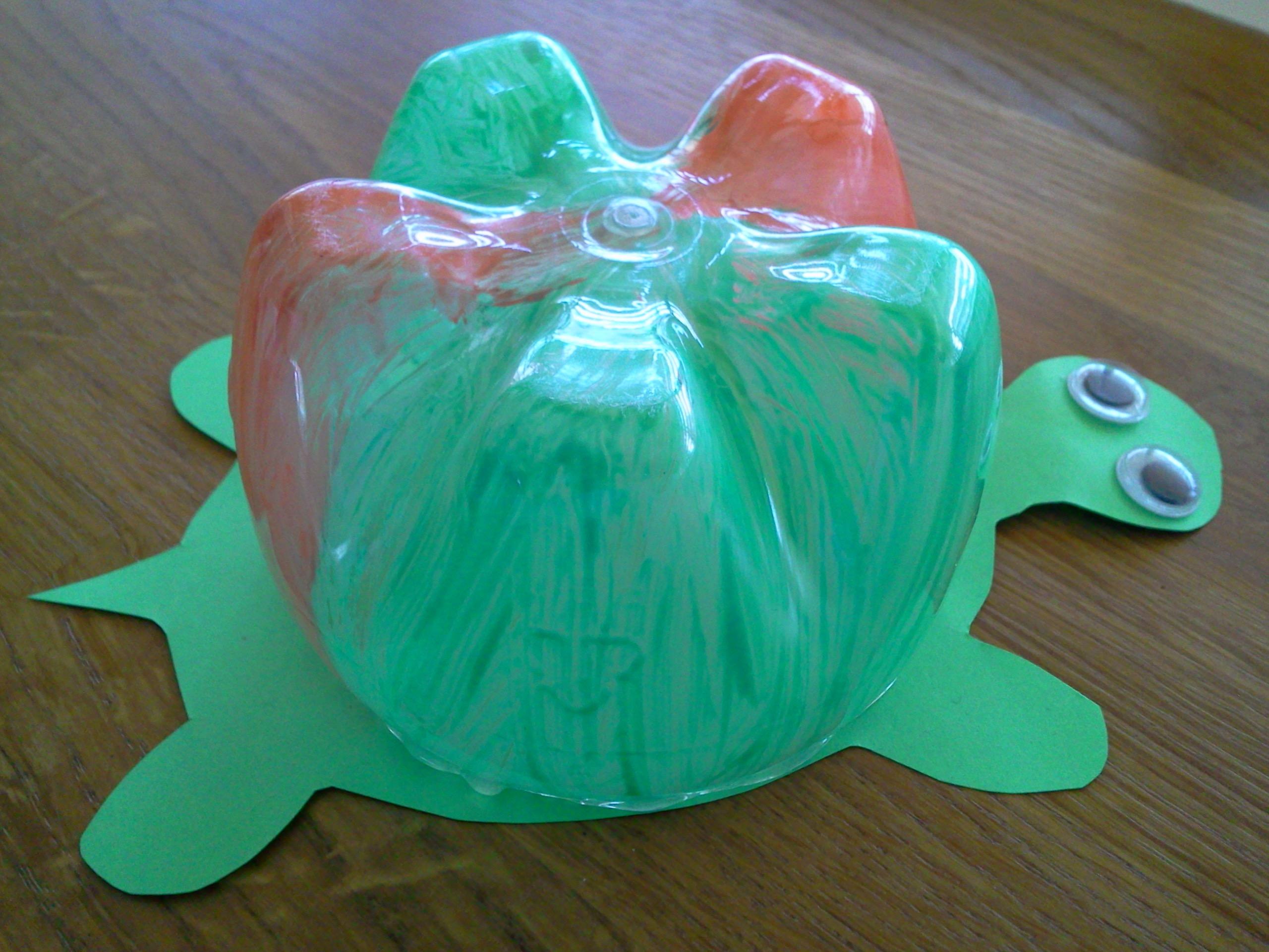 Ongebruikt Knutsel idee schildpad van lege plastic fles UR-23