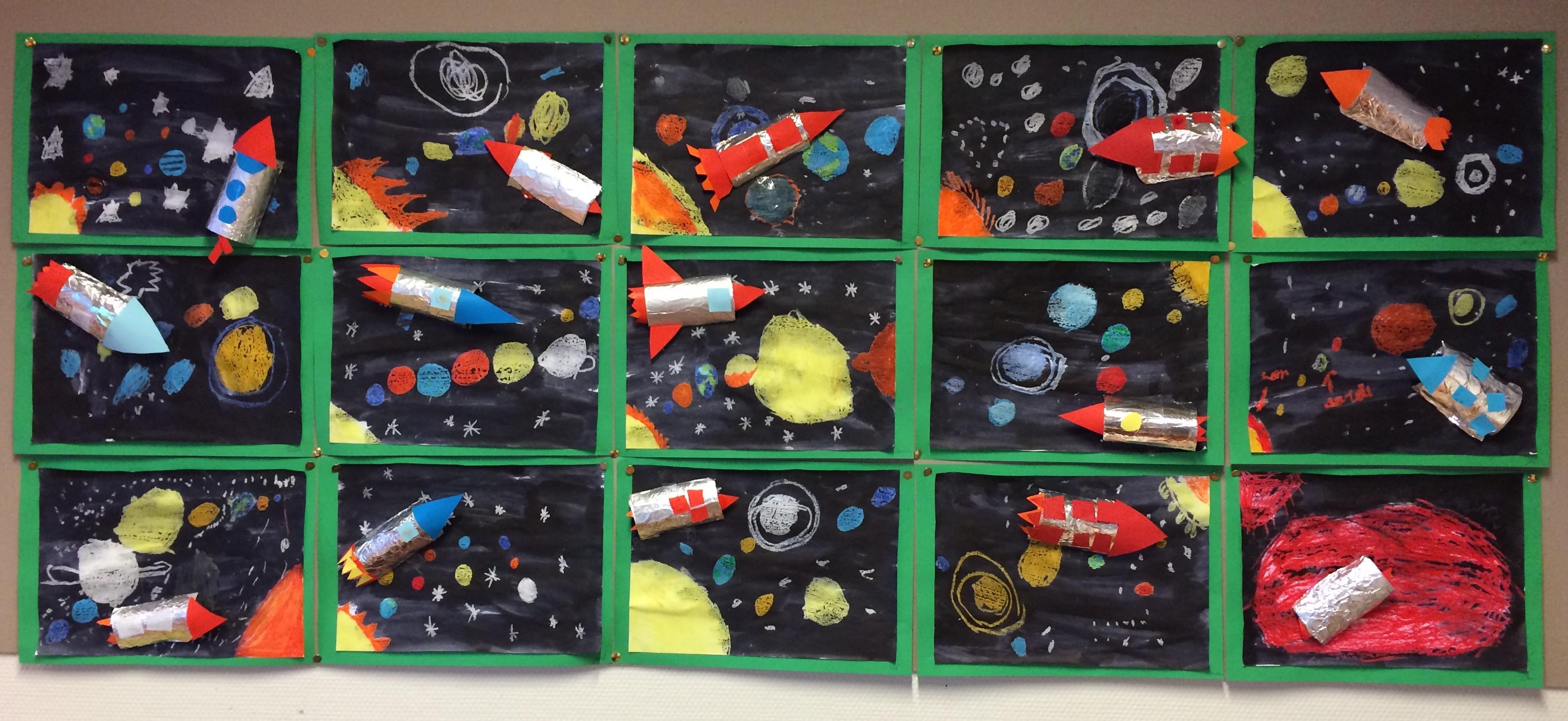 Zeer Raket en zonnestelsel knutselen - Knutsel ideeën voor kinderen &NF12