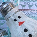Sneeuwpop van gloeilamp