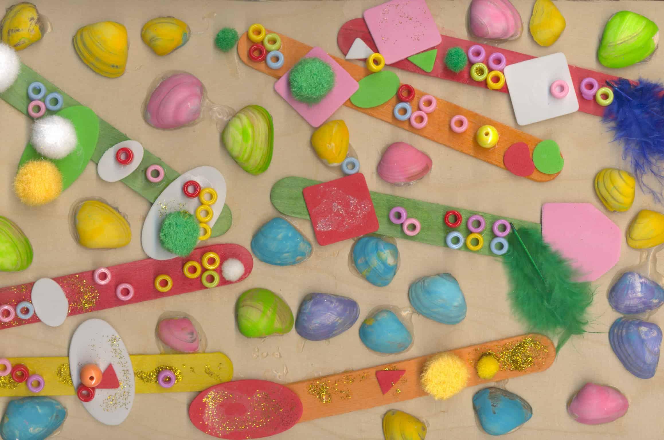 Welp Schelpen kunstwerkje - Knutsel ideeën voor kinderen XU-23
