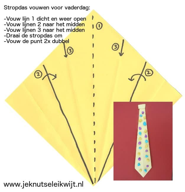stropdas knutselen